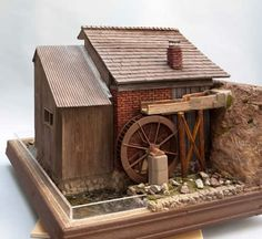 Custom Room Boxes - Miniature Room Box water mill