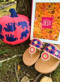 Fall monogram + Lilly. Love! By @lillysouthernb.  Gorgeous items in her etsy store. iPad monogram made with @monogramapp