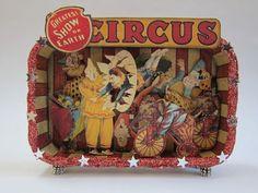 Altered Altoid tin circus