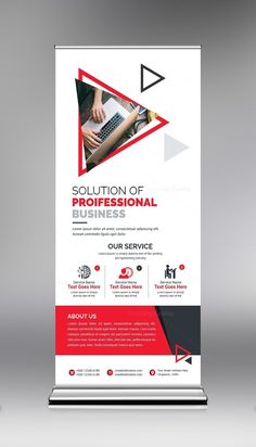 Roll Up Banner Template with Clean Design. This elegant and well organized corporate roll-up banner template is in PSD format. It's ready to print. The Roll up banner template Rollup Design, Rollup Banner Design, Letterhead Template, Brochure Template, Banner Template, Flyer Template, Web Banner, Standing Banner Design, Magazine Ideas