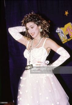 Photo of MADONNA; Madonna after the 1st MTV Music Awards