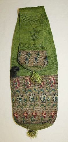 Miser's purse Date: early 18th century Culture: British