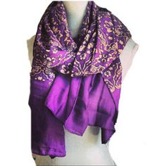 The perfect fall scarf! Vintage-y retro patterned scarf is meant to be layered and draped.Length approx. 70 x 35. Lightweight