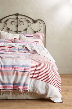 Makeda Duvet #anthropologie. Hand woven and designed with the collaboration of Anthro and Etheopian model Liya Kebede.