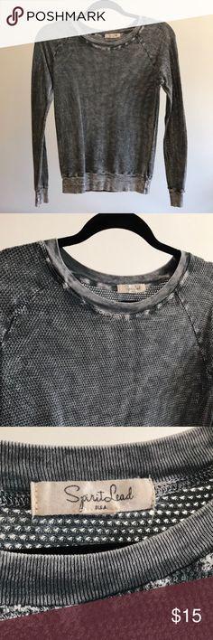 Ribbed long sleeve tee shirt SpiritLead long sleeve rib long sleeve tee shirt spiritlead Tops Tees - Long Sleeve