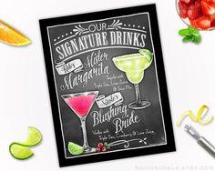 Wedding Decoration Signature Drink Sign DUAL by RockinChalk