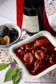 This recipe for Mulled Stewed Plums comes directly from Austria! Think of it as a boozy, spiced plum compote.It's traditionally served with fluffy pancakes!
