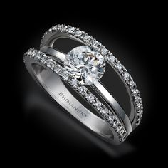 The ring of my dreams!!! My dream wedding ring!  Shimansky Round Diamond & Double Microset Ring | Evolym Collection