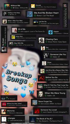Playlist Names Ideas, Love Songs Playlist, Music Mood, Mood Songs, Pop Music, Music Lyrics, Music Songs, Reggae Music, Heartbreak Songs