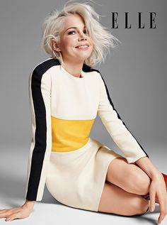 Michelle Williams cover of Elle April 2015 - love her hair!