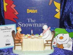SUPERB COALPORT SNOWMAN FIGURINE - DINNER FOR TWO - BNIB - Ltd. Ed. No.1013/2500