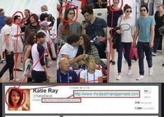 Stalker girl, isn't a stalker. She works for modest managment. *MASSIVE sigh of relief* that girl scared me.