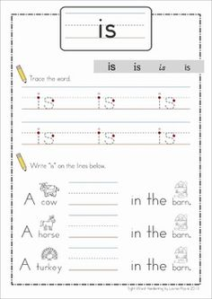 Sight Words - Handwriting Book (Pre-Primer Words). Great for handwriting practice and reading sight words in context!
