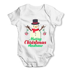 Personalised Merr...  http://twistedenvy.com/products/personalised-merry-christmas-snowman-baubles-baby-unisex-baby-grow-bodysuit?utm_campaign=social_autopilot&utm_source=pin&utm_medium=pin   Shop for Amazing Art  Show your Creative side.  #Twistedenvy