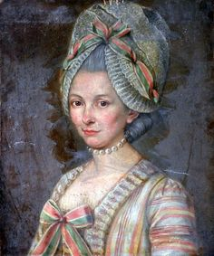 Portrait of a Lady by French School, ca 1772-85 France, the Bowes Museum. Love her cap!