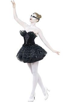 Gothic Swan Costume, Black Swan Ballerina Fancy Dress | Halloween Costumes | Escapade® UK