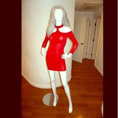 Free gift Sexy red night out dress Free gift included! This is a beautiful red dress for a great night out in the town ! Very sexy details. In excellent shape. Blvd Collection Dresses