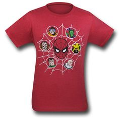 Spiderman Villains in the Web 30 Single T-Shirt