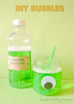 DIY Monster Bubbles Kids Party Idea