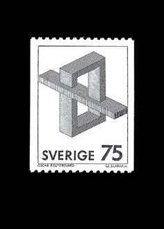Postage stamp from Sweden featuring an impossible shape