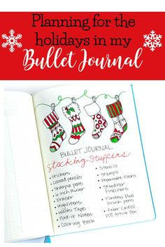 Ideas for using your bullet journal to plan for the holidays!