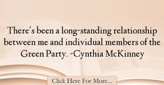 Cynthia McKinney Quotes About Relationship - 58223