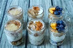 """O que é que são as """"overnight oats""""?  Como o nome indica são flocos de aveia (oats) que ficam durante a noite (overnight) no frigorífico."""
