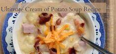 Allow me to introduce you to the ULTIMATE Potato Soup recipe, it's jammed with delicious ingredients...sooo good!