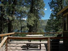 Durango cabin photo - Big blue water views from the deck!