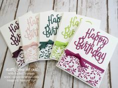 2017-19 In Color Happy Birthday Cards – Make-n-takes at our Crafternoon Tea Event… #stampyourartout - Stampin' Up!®️️ - Stamp Your Art Out! www.stampyourartout.com