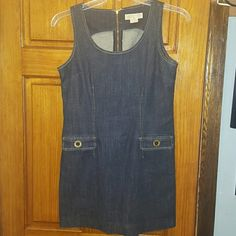 MICHAEL MICHAEL KORS Denim Dress NICE Comfy dress with two cute front  pockets....zip up back Michael Kors Dresses Midi