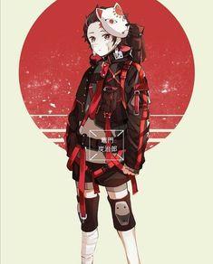 A história acompanha Tanjiro Kamado e sua irmã, Nezuko, que levavam uma vida pacata até serem atacados por demônios. Além de perder todos seus familiares, Tanjiro viu sua irmã se transformar também em um demônio. Para tentar torná-la humana novamente e impedir que outros passem pelo menos, o menino se transforma em um matador de demônios. Anime Chibi, Fanarts Anime, Anime Characters, Kawaii Anime, Anime Angel, Anime Demon, Susanoo Naruto, Anime Naruto, Cute Anime Character