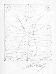 Renwick Portal Gate Study1972Ink on paper 12x9 in.(GA 1972.01.10) In 1972 the Renwick Gallery of the Smithsonian Institution in Washington, ...