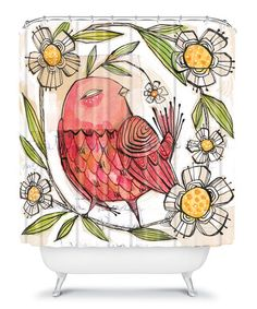 DENY Designs Cori Dantini Woven Polyester Turkey Shower Curtain Designed By Wayfair via Stylyze Cool Shower Curtains, Shower Liner, Curtains With Rings, Community Art, Woven Rug, Custom Furniture, Home Decor Accessories, Watercolor Paintings, Just For You