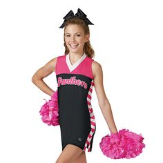 The Industry Leader for made in the USA in-stock and custom Cheerleading Uniforms. Cheerleading Company also has all of the accessories you need, including shoes, pom poms, campwear and cheer apparel. Cheerleading Company, Cheerleading Uniforms, Pink Out, Cheer Outfits, Fashion, Moda, Fashion Styles, Fashion Illustrations