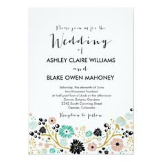 Shop Pretty Bouquet Floral Wedding Invitation Blush created by PinkHippoPrints. Blush Wedding Invitations, Personalised Wedding Invitations, Beautiful Wedding Invitations, Personalized Wedding, Floral Invitation, Custom Items, White Envelopes, Wedding Bouquets, Rsvp