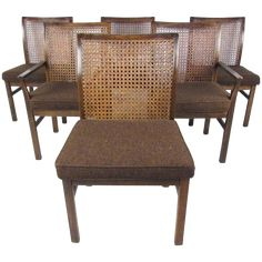 Mid Century Modern Cane Back Dining Vintage Mid Century Modern Cane Back Walnut Dining Chair . Stanley Mid Century Dining Table With 6 Cane Back Chairs . Rattan Dining Chairs, Black Dining Chairs, Dining Chair Set, Modern Chairs, Table And Chairs, Eames Chairs, Modern Armchair, Arm Chairs, Upholstered Chairs