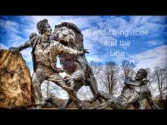 This statue of David Livingstone and the Lion can be found on the grounds at the David Livingstone Centre. David Livingstone, Dji Phantom 3, Lion Sculpture, Statue, Videos, Sculpture, Sculptures
