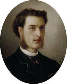 """Ricardo Balaca y Orejas-Canseco, """"Autorretrato"""", ca. 1863, óleo sobre lienzo, 53,2 x 42,7 cm"""