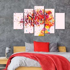 Wind Multi Panel Canvas Wall Art by ElephantStock is printed using High-Quality materials for an elegant finish. We are the specialists in Modern Décor canvas prints and we offer 30 day Money Back Guarantee Artist Wall, Artist Canvas, Artist Painting, Gun Art, Create Canvas, Indie Art, Room Decor, Wall Decor, Butterfly Art