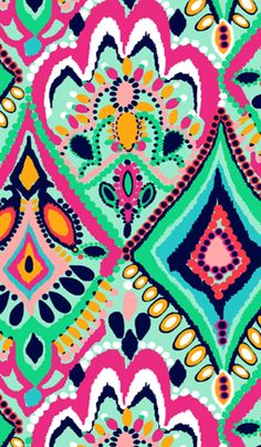 Edgy Wallpaper Iphone Art Geometric Patterns 31 New Ideas Lilly Pulitzer Patterns, Lilly Pulitzer Prints, Pattern Art, Pattern Design, Pattern Fabric, Textile Patterns, Textiles, Geometric Patterns, Pretty Patterns