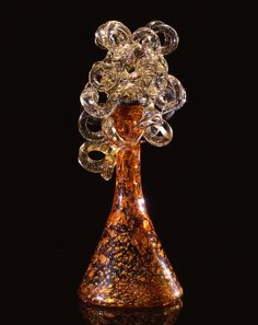 Dale Chihuly Copper Sienna Piccolo Venetian with Translucent Coils glass 17 x 17 x 18 inches) Blown Glass Art, Art Of Glass, Stained Glass Art, Mosaic Glass, Dale Chihuly, Fire Glass, Glass Ball, Glass Art Pictures, Fantastic Art