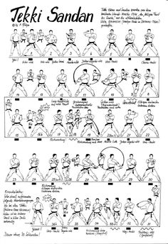 Tekki Sandan Kata Find more at https://www.facebook.com/CharacterDesignReferences if you are looking for: #art #character #design #model #sheet #illustration #best #concept #animation #drawing #archive #library #reference #anatomy #traditional #draw #development #artist #how #to #tutorial