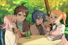 In the world of Talent Development Plan, I'd love this to happen! (Saimatsu and Hinanami) : danganronpa New Danganronpa V3, Super Danganronpa, Danganronpa Characters, Anime Characters, Nanami Chiaki, Danganronpa Trigger Happy Havoc, Nagisa Shiota, Gundam, Fanart