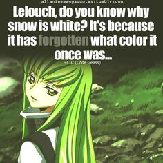 Discover and share Code Geass Quotes. Explore our collection of motivational and famous quotes by authors you know and love. Code Geass, Sad Anime Quotes, Manga Quotes, I Love Anime, Awesome Anime, Sword Art Online, Online Art, Vocaloid, Danshi Koukousei No Nichijou