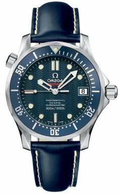 Omega Seamaster James Bond Midsize 2922.80.91 Omega. $3499.99. Crystal Material: Sapphire - Scratch Resistant. Bracelet / Strap: Blue rubber with white contrast stitching. Functions: Hours, Minutes, Seconds, Date, Helium Escape Valve, Power Reserve (48 Hours). Water Resistance: 300M/1000 ft Diving. Calendar: Date, displayed at 3'oclock position