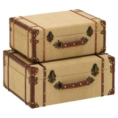 2-Piece Knowles Trunk Set - The Courtyard Cottage on Joss & Main