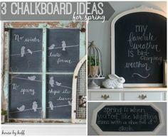 Three chalkboard ideas for Spring!