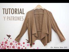 DIY Costura ropa mujer: Chaqueta de ante (patrones gratis) - YouTube