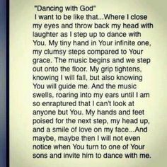 Dancing with God <3